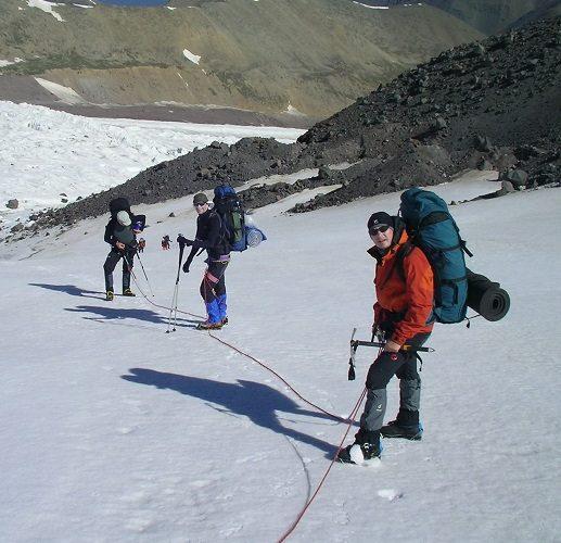 Trekking im Kaukasus, Elbrus von Norden